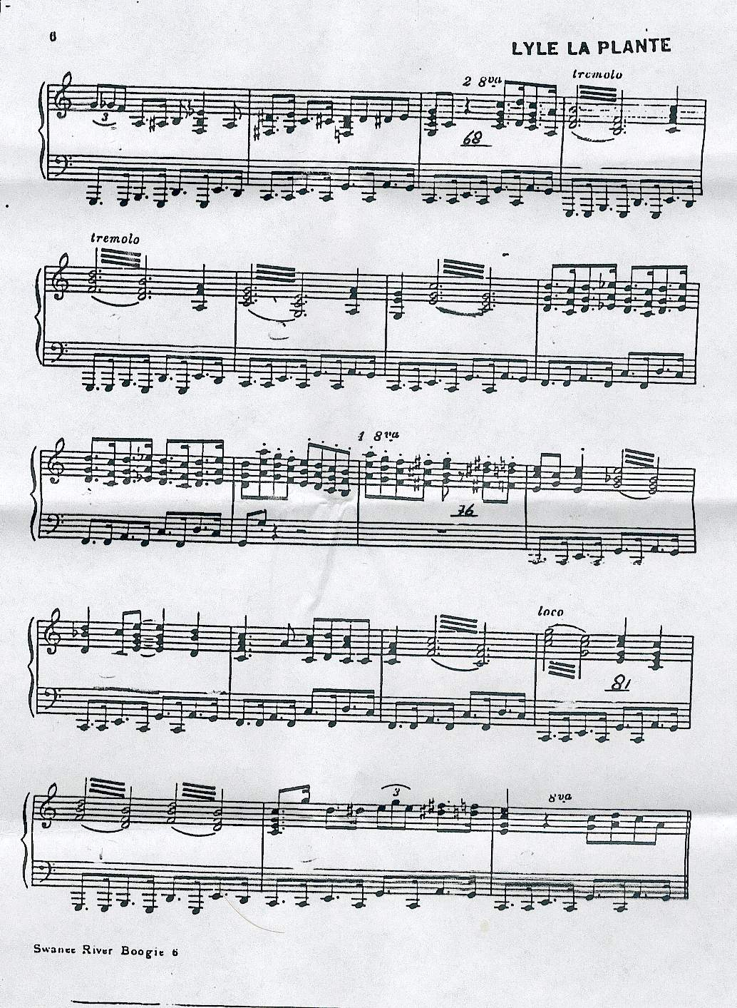 Index of partition piano